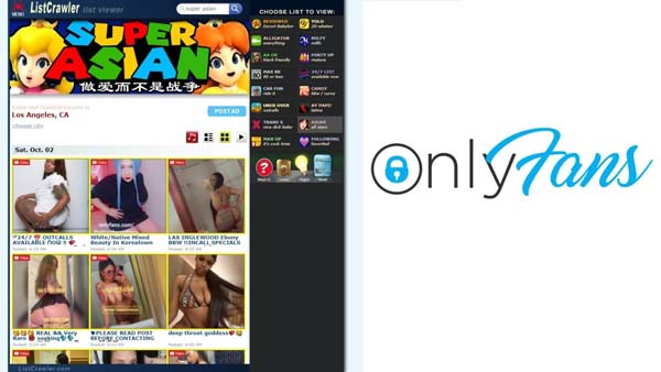 listcrawler and onlyfans sites for adults